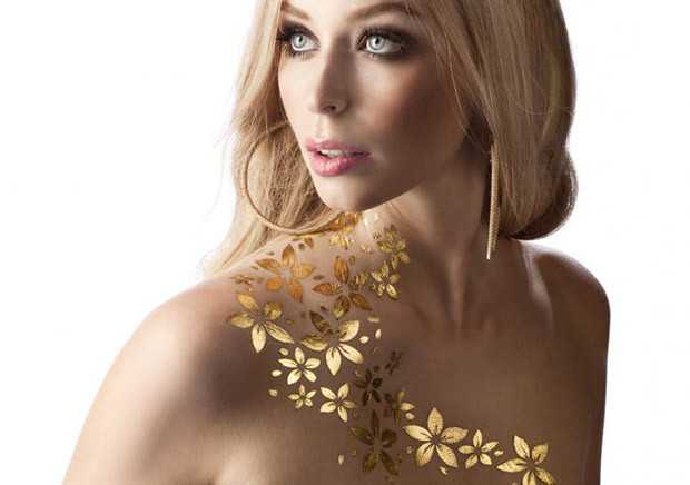 GoldSin Gold Temporary Tattoos