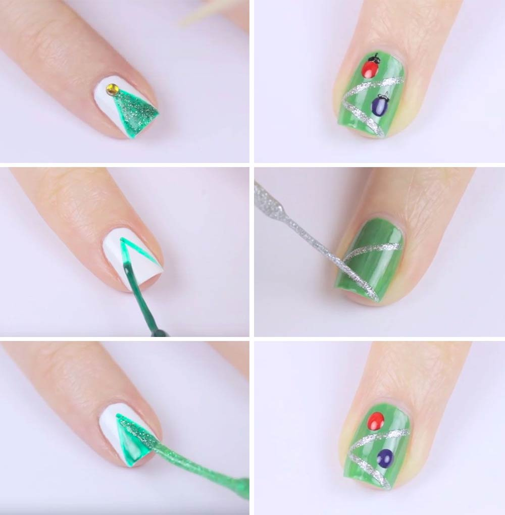 Nail art Christmas simple do it yourself