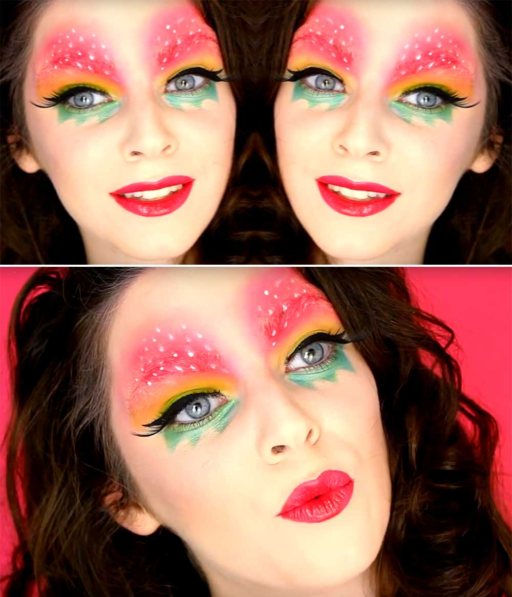 Carnival makeup tutorial of the best Italian make up artists