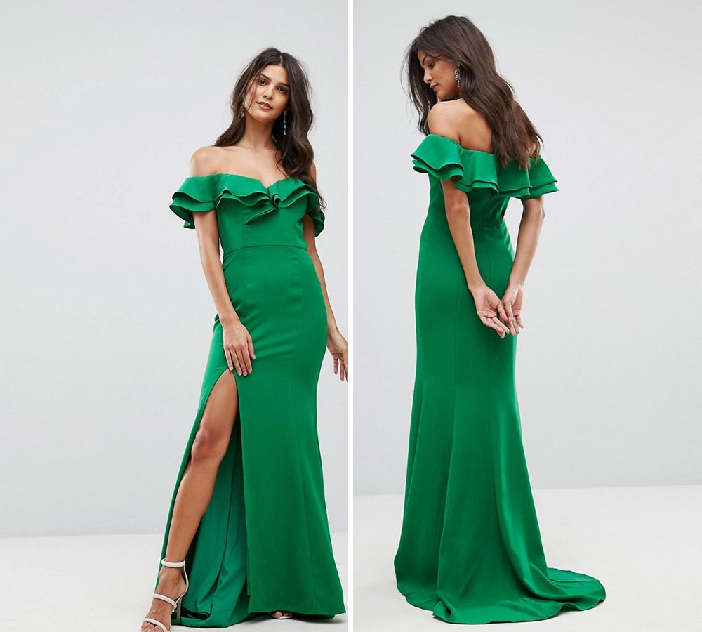 long cocktail dresses with slit