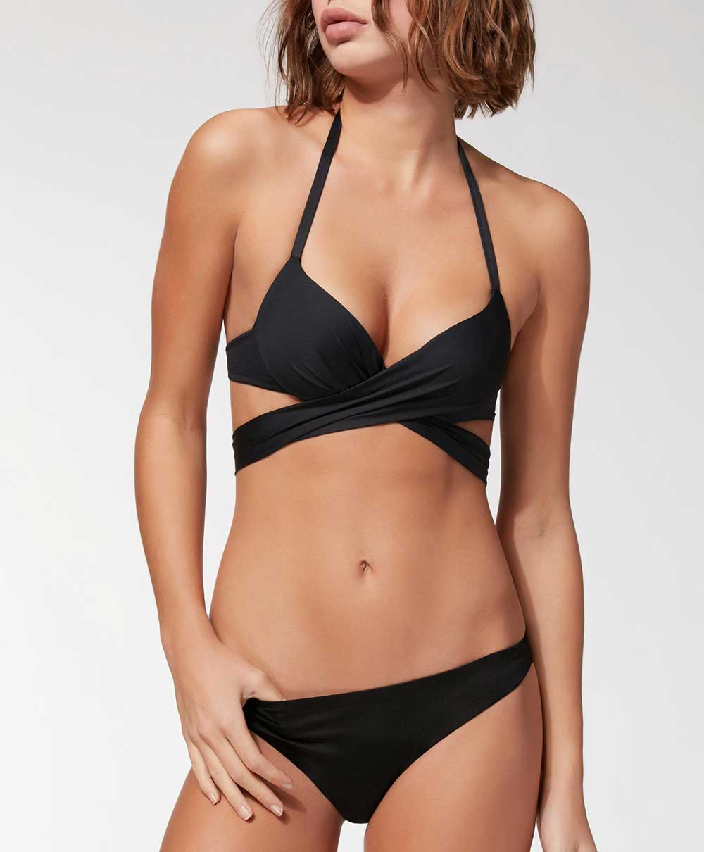 Calzedonia 2018 black swimwear