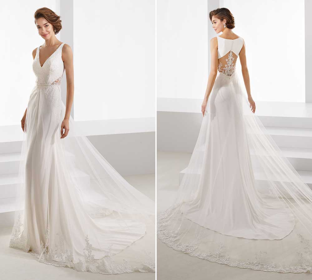 wedding dresses with train 2019