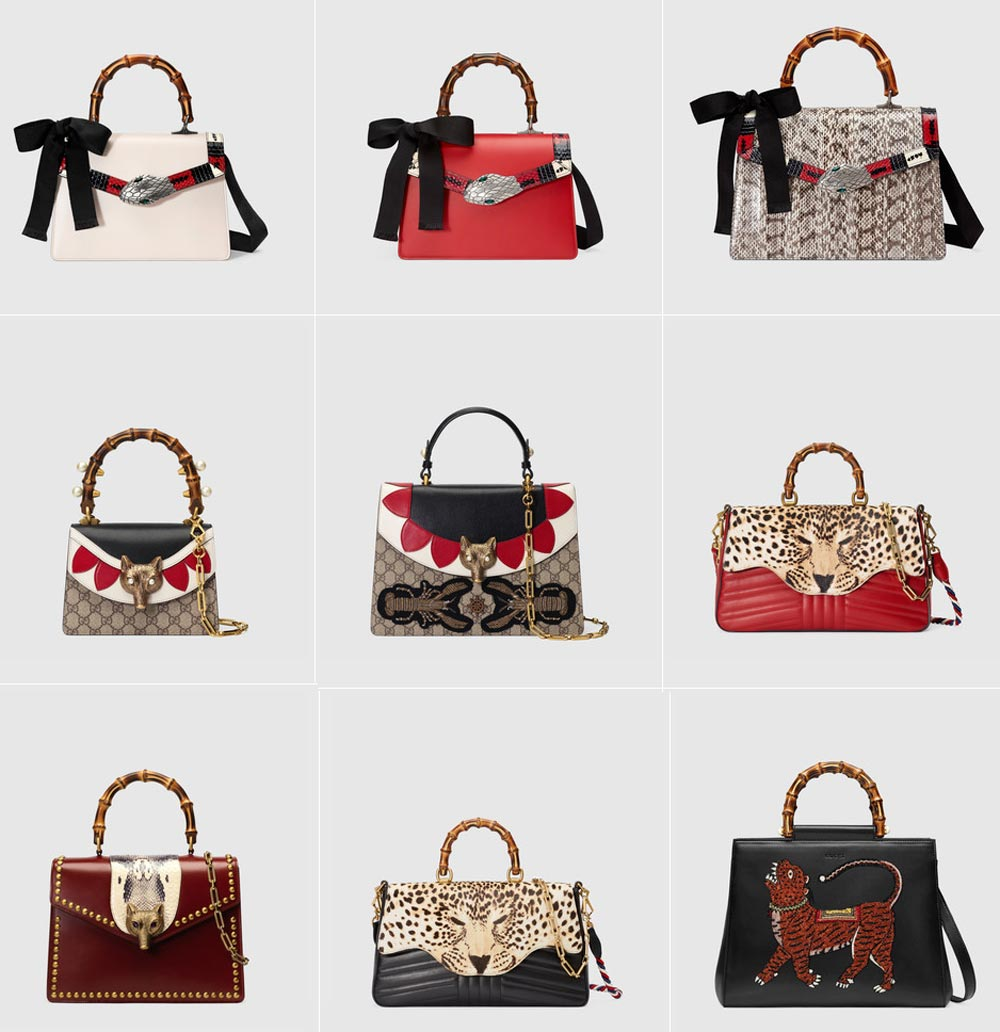 Gucci bags with bamboo handle