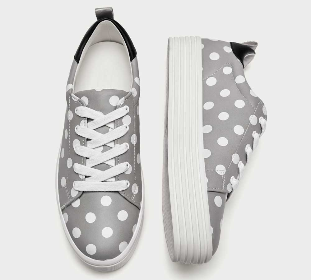 Zara sneakers with polka dots