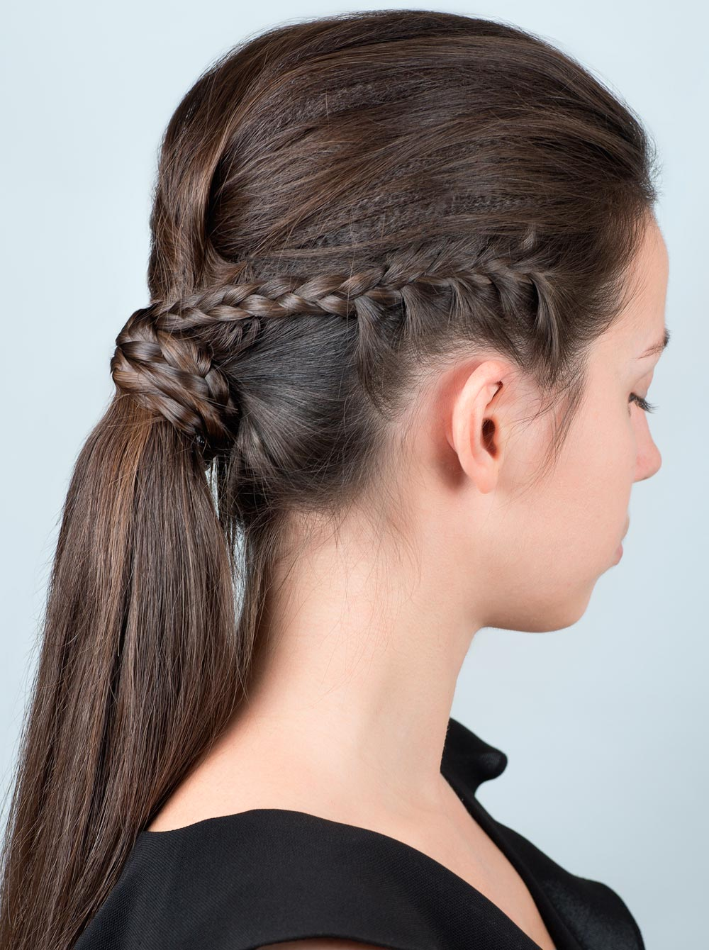 hairstyle new year with braids