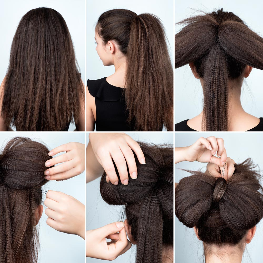 Hair bow Christmas hairstyle