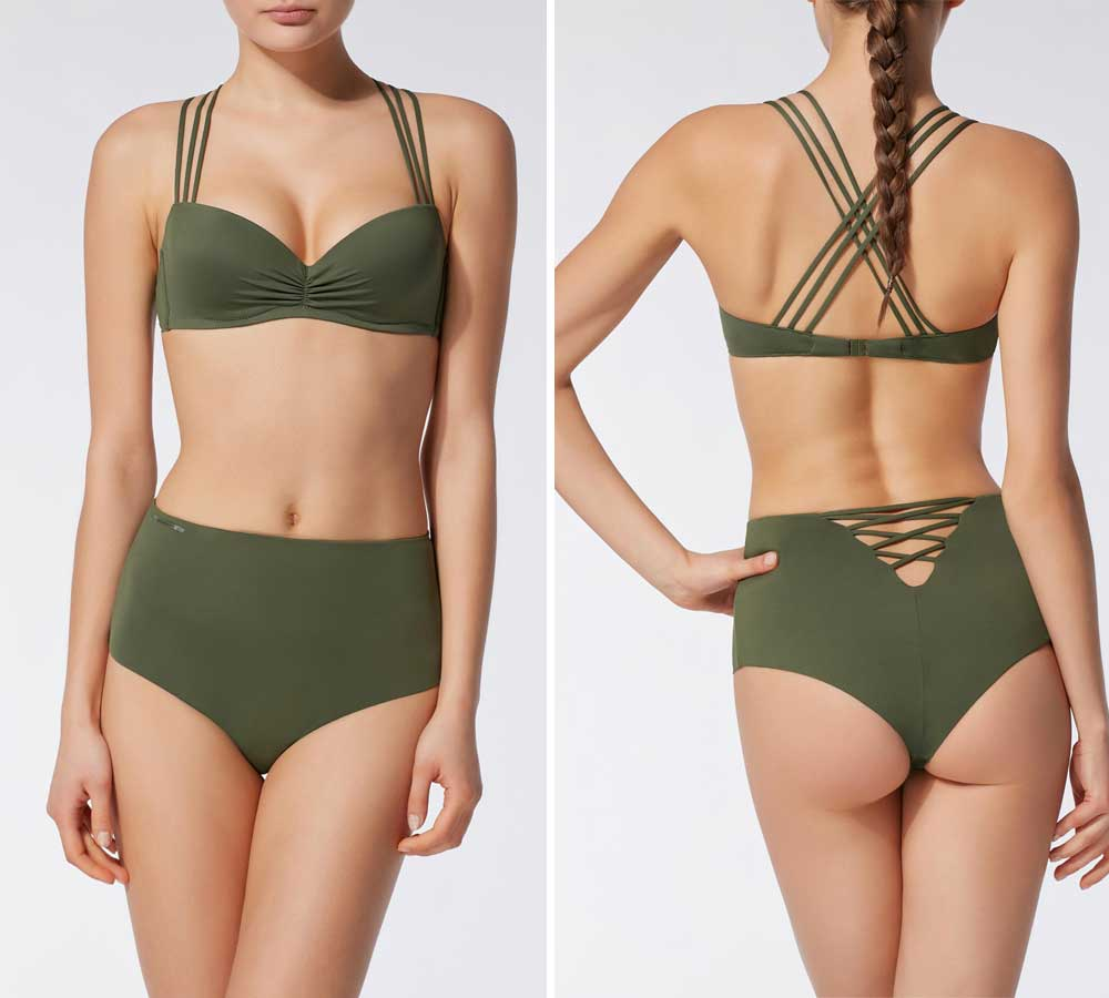 Calzedonia high-waisted costumes