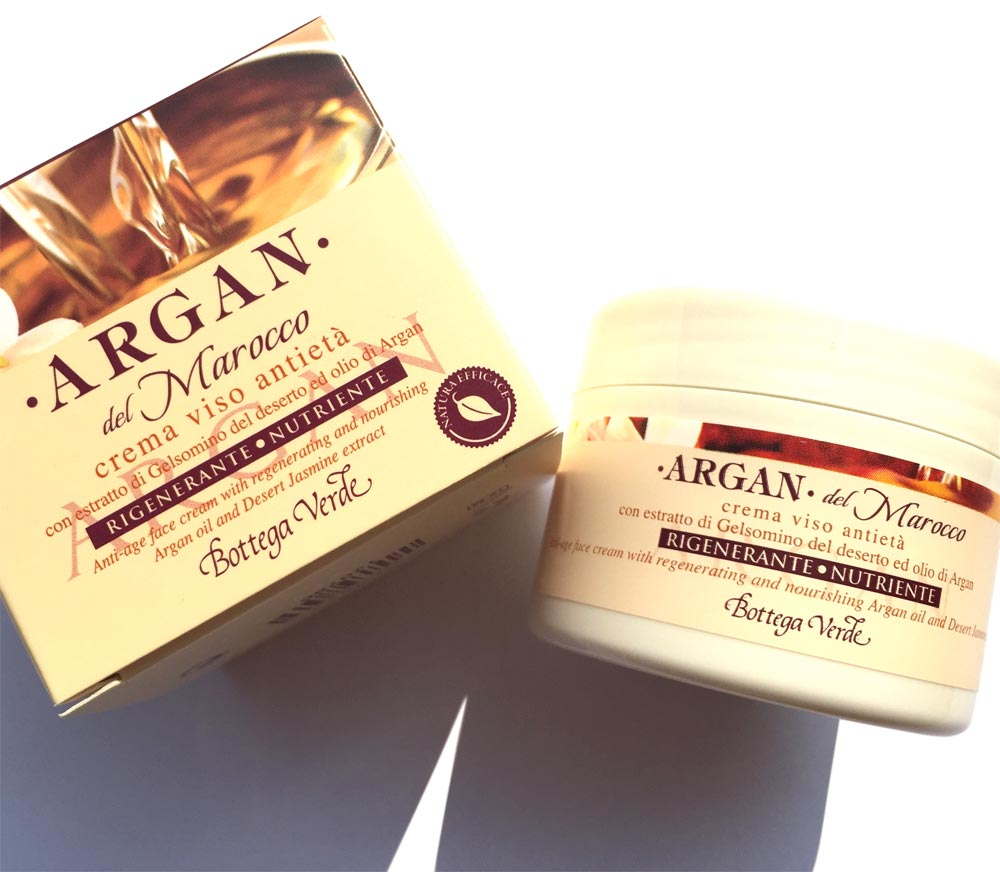 green shop cream all'argan face