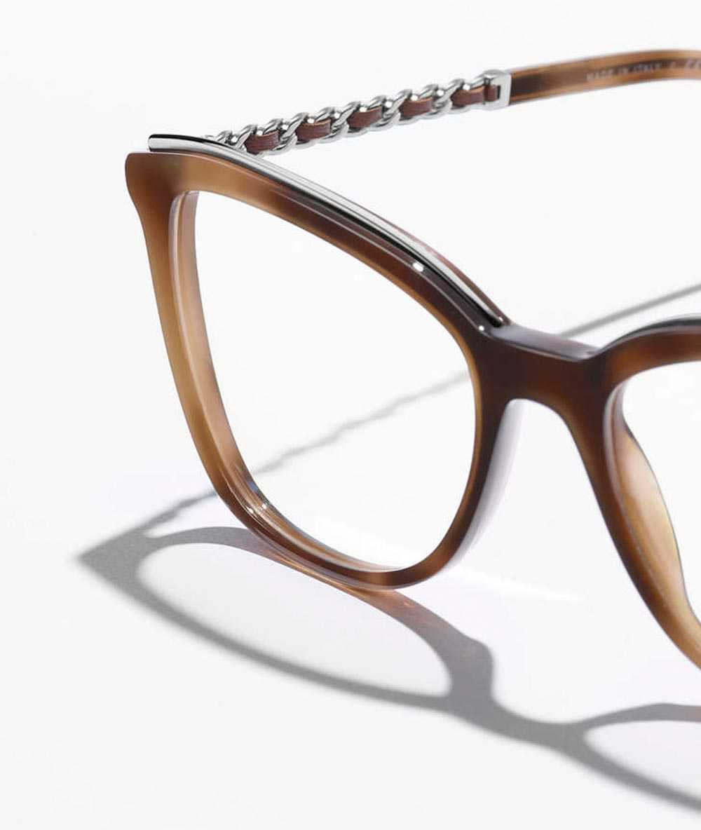 Chanel metal leather frame