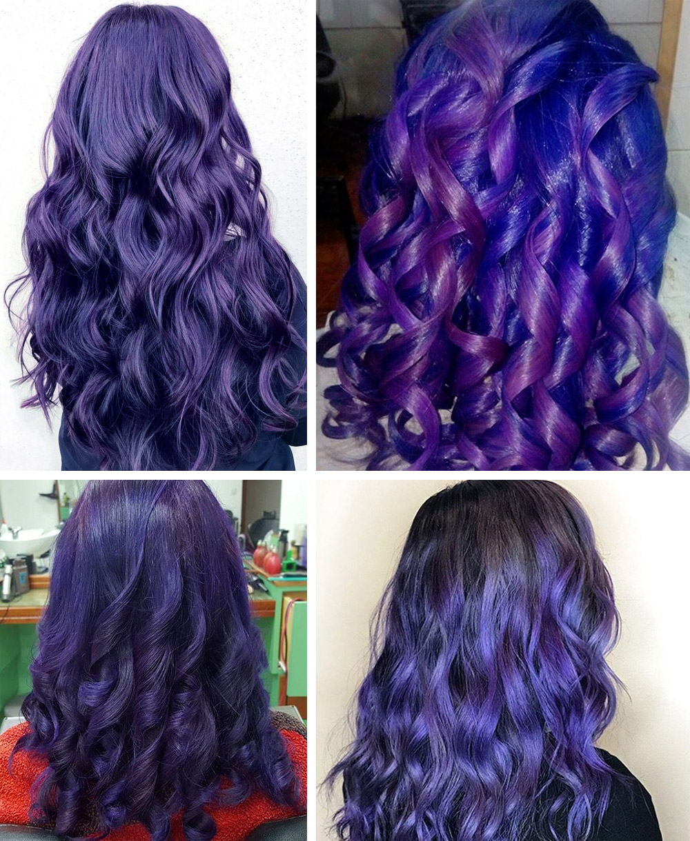 Ultra Violet curly hair