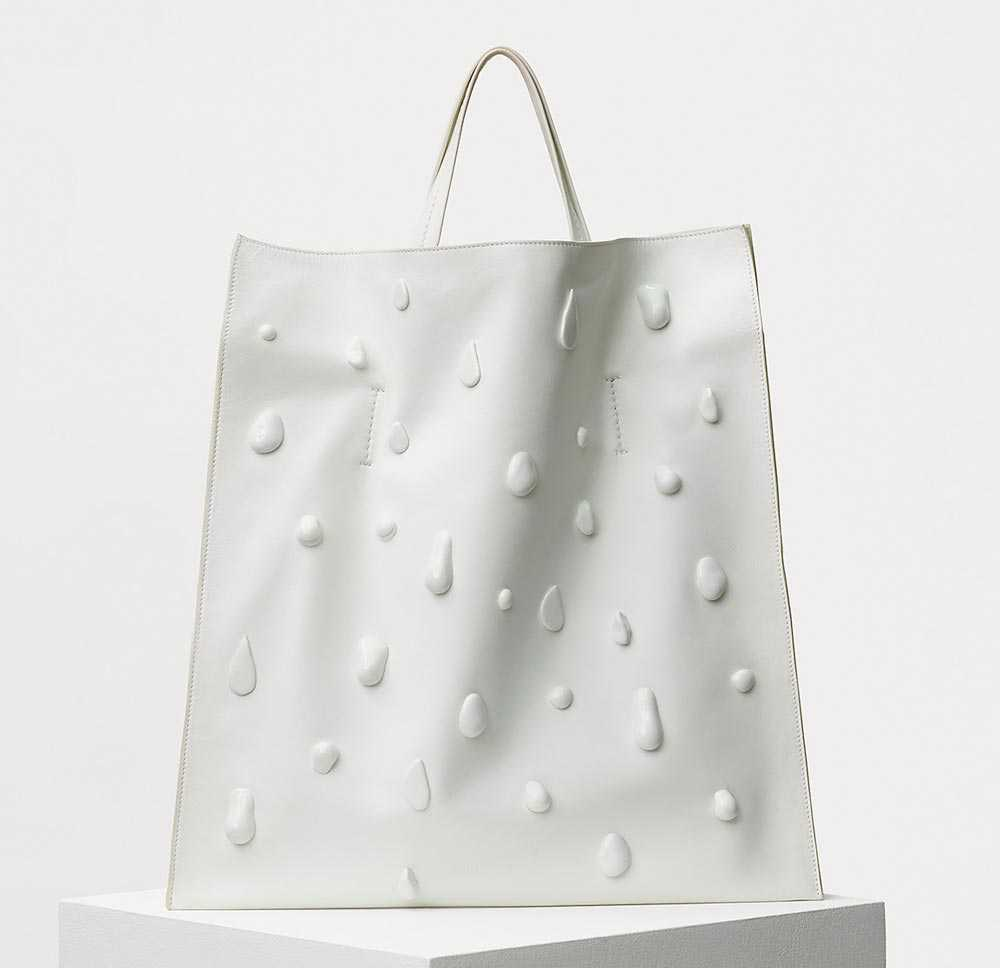 White bag with Celine drops