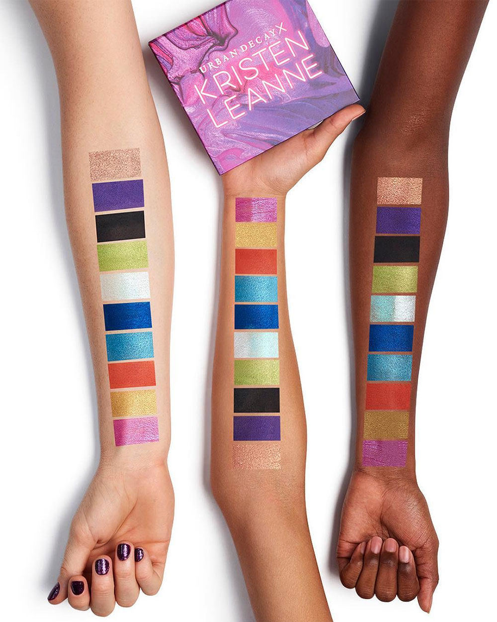 Urban Decay Kaleidoscope Palette swatches