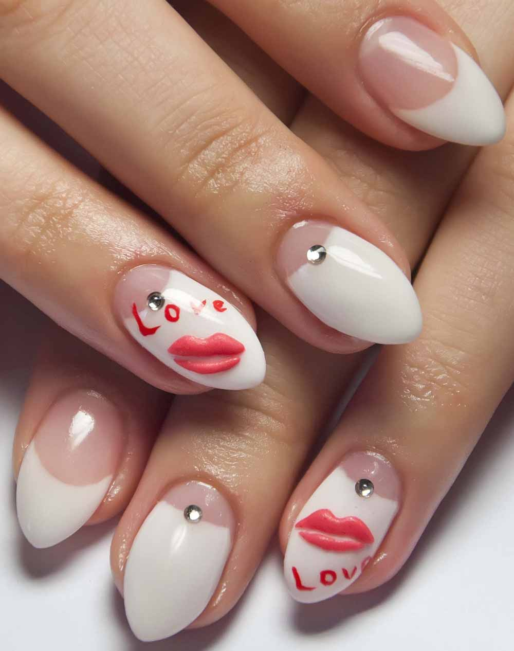Nail gel Valentine's Day