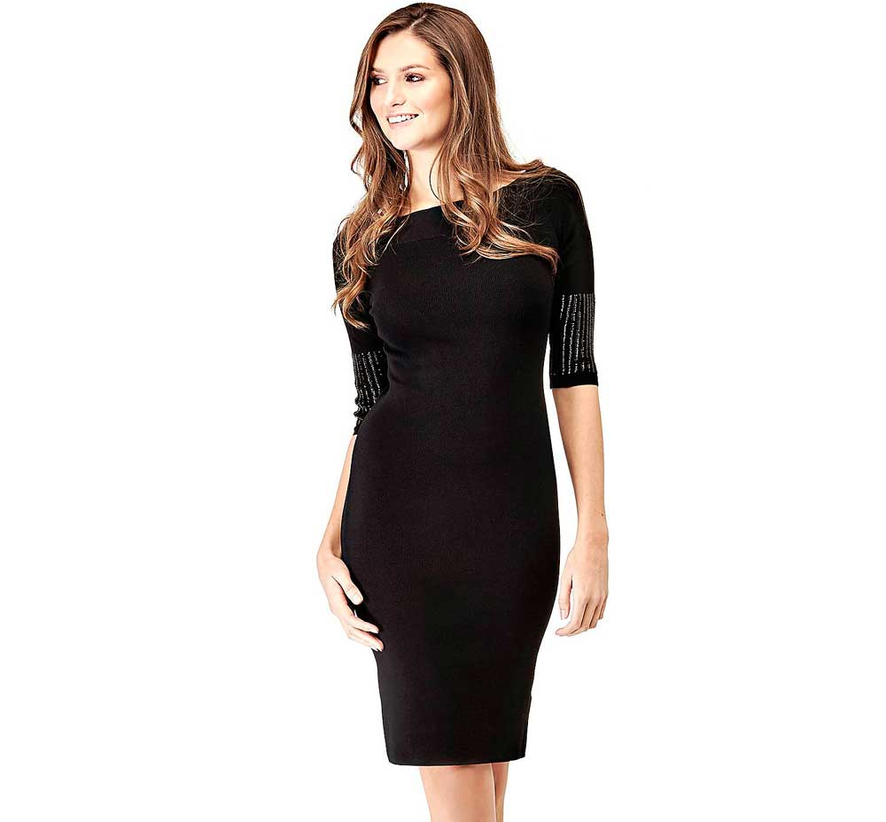 Guess black sheath dress
