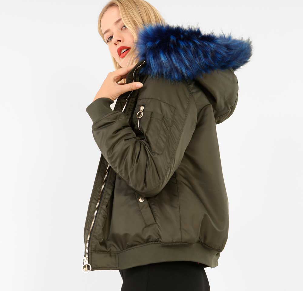 pimkie parka with colored fur