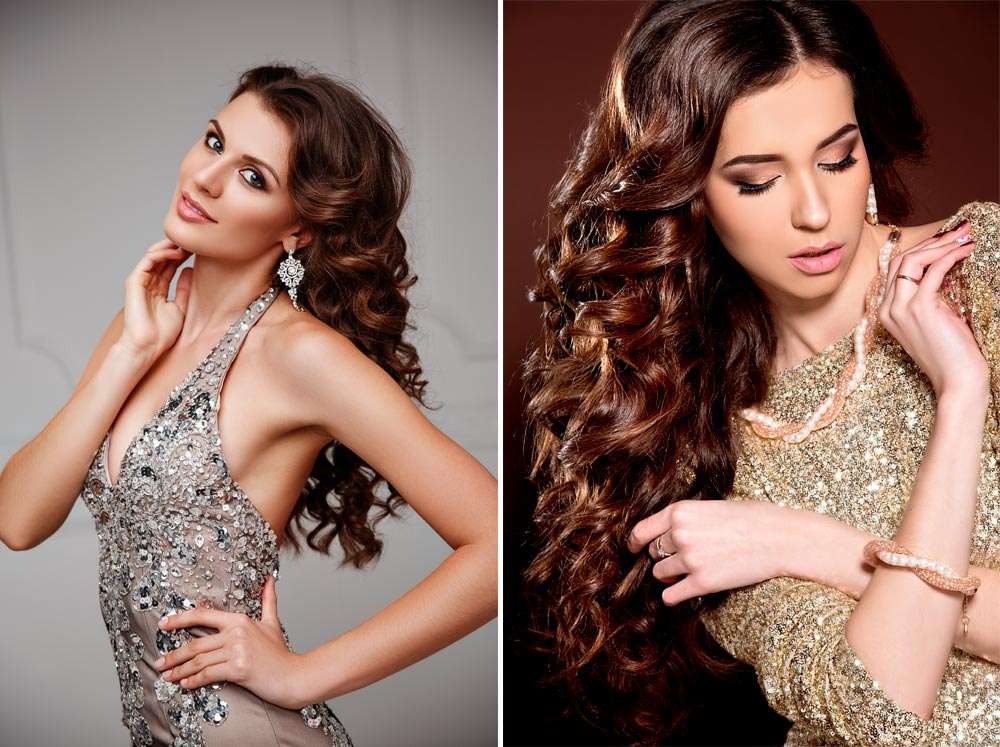 Christmas Hairstyles with ringlets