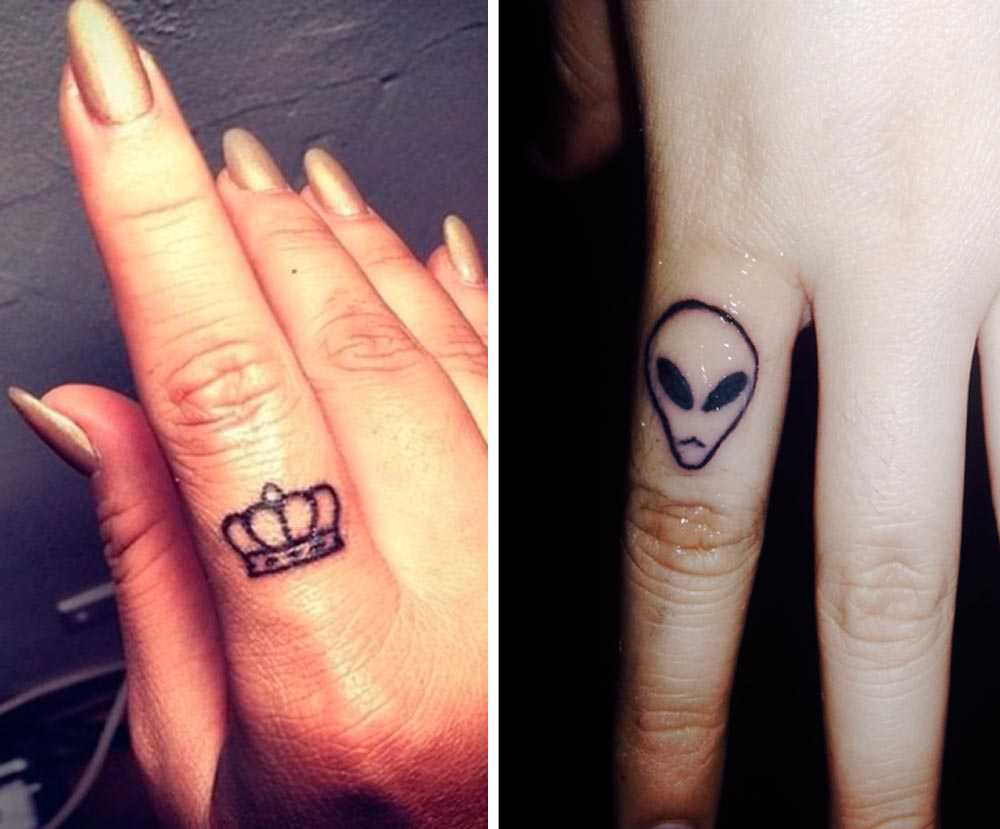 Tattoo on the fingers