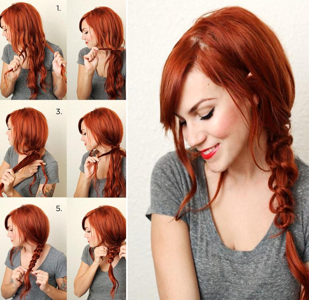 Tutorial Side braid with knots