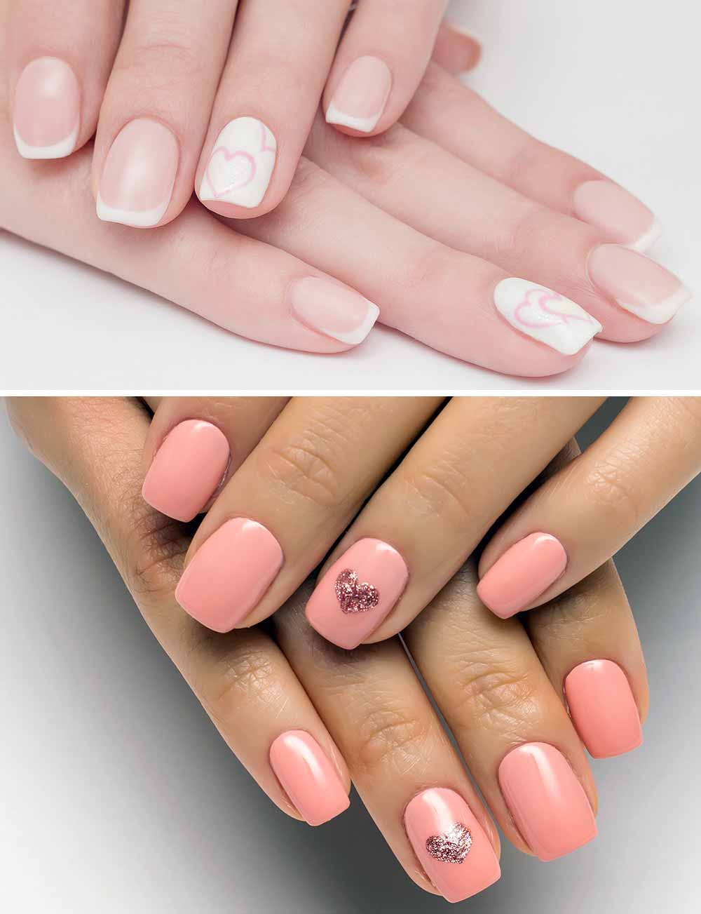 romantic Valentine's nail art
