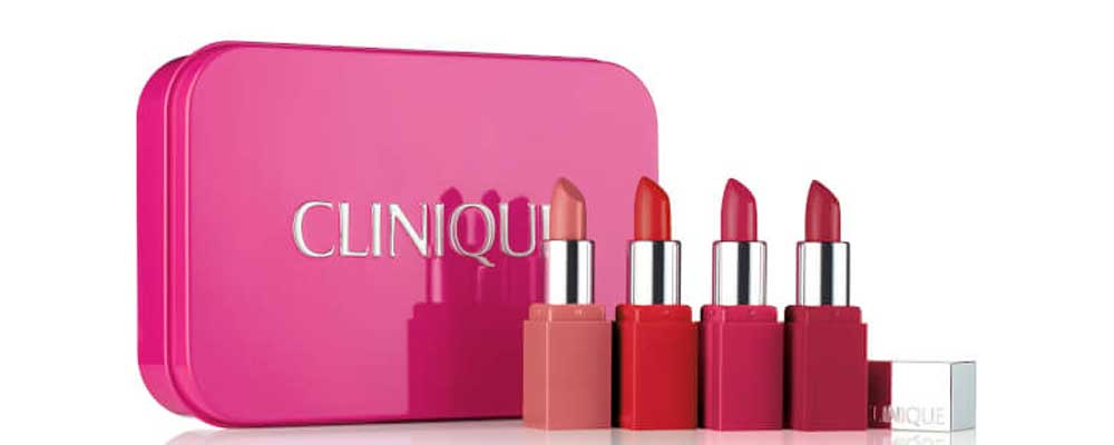 Clinique gift box lipsticks Christmas 2017