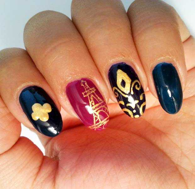 Parisian nail decoration