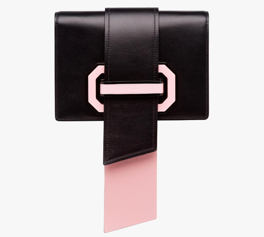 Prada pink and black bag