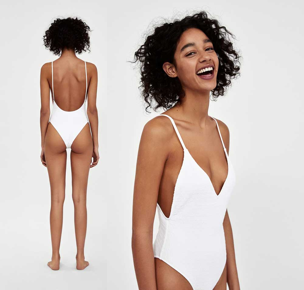 zara white swimsuit