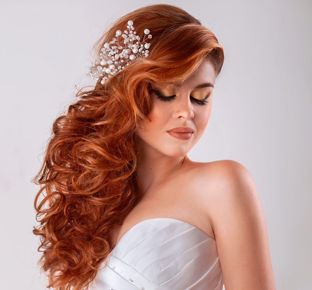 Hairstyle Bride Long Curly Hair