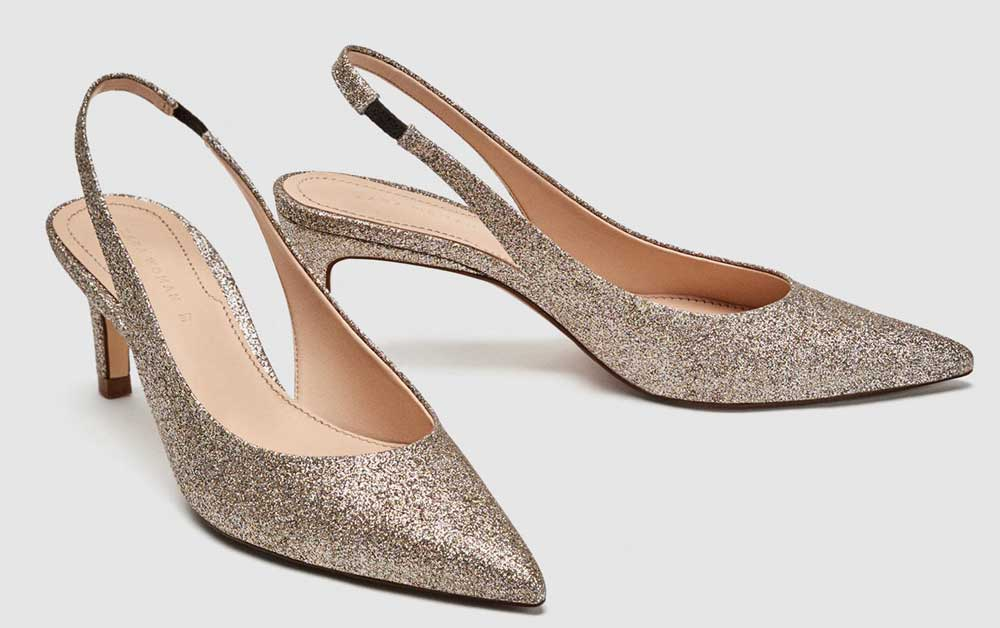 Zara glitter pumps
