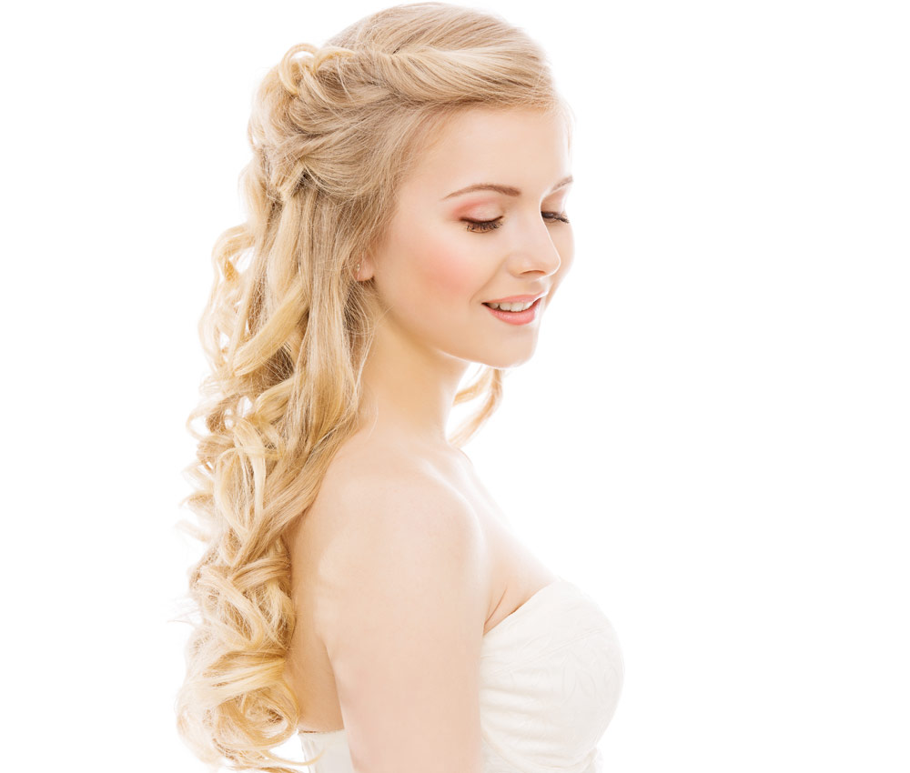 Hairstyles bride long hair 2018: Beautiful pictures!