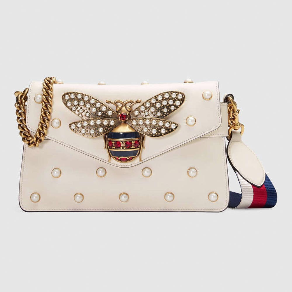 Gucci clutch bag with pearls