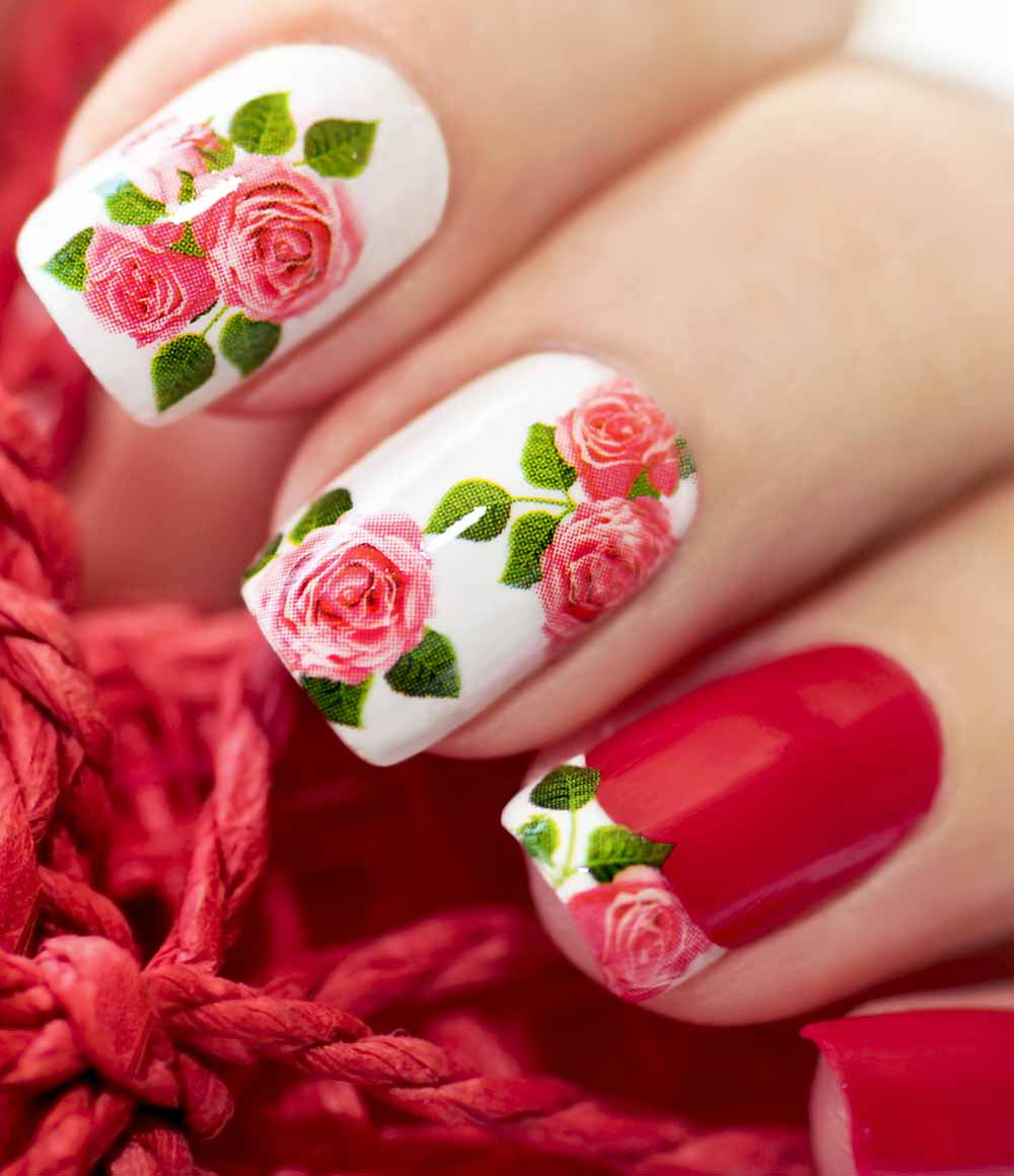 Nail art Valentine decals