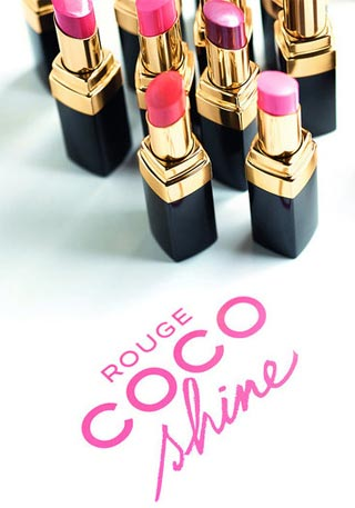 Chanel: Rouge Coco Shine lipsticks for spring 2011