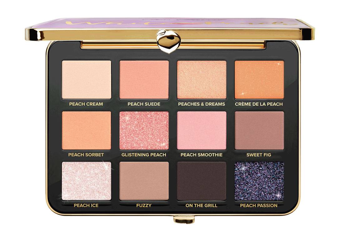 White Peach Too Faced palette: photos and swatches