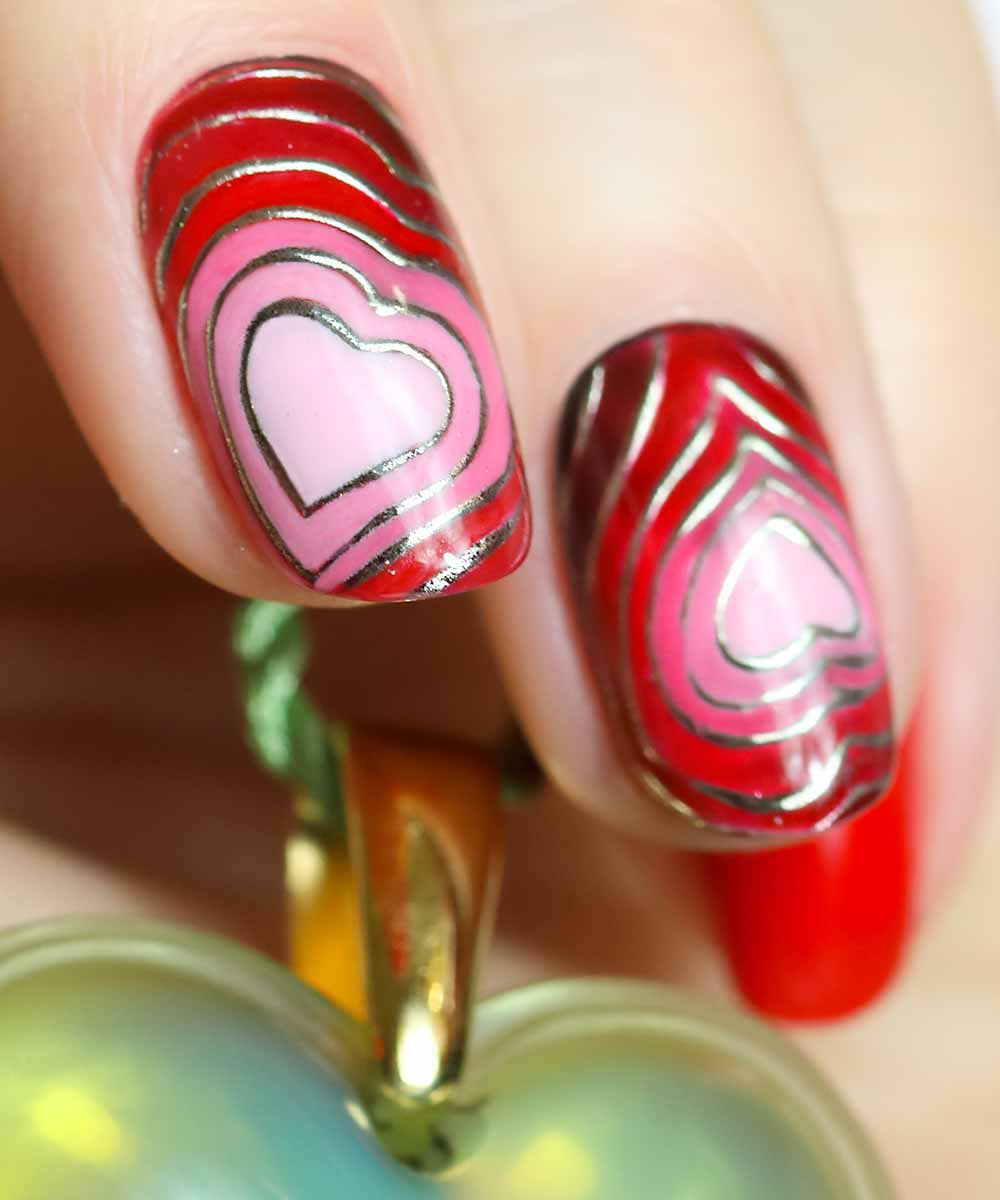 Nail art Valentine's Day 2018