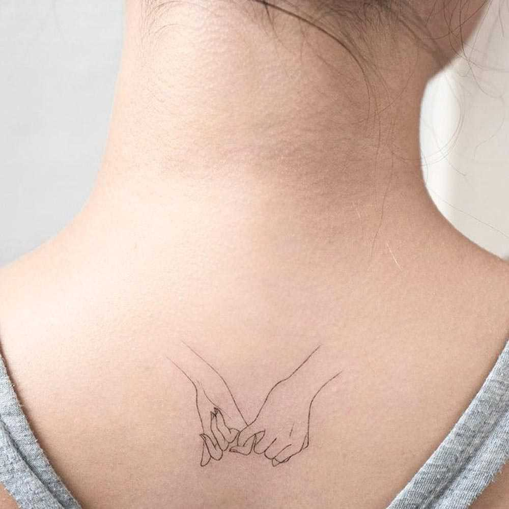 Small tattoos on the neck