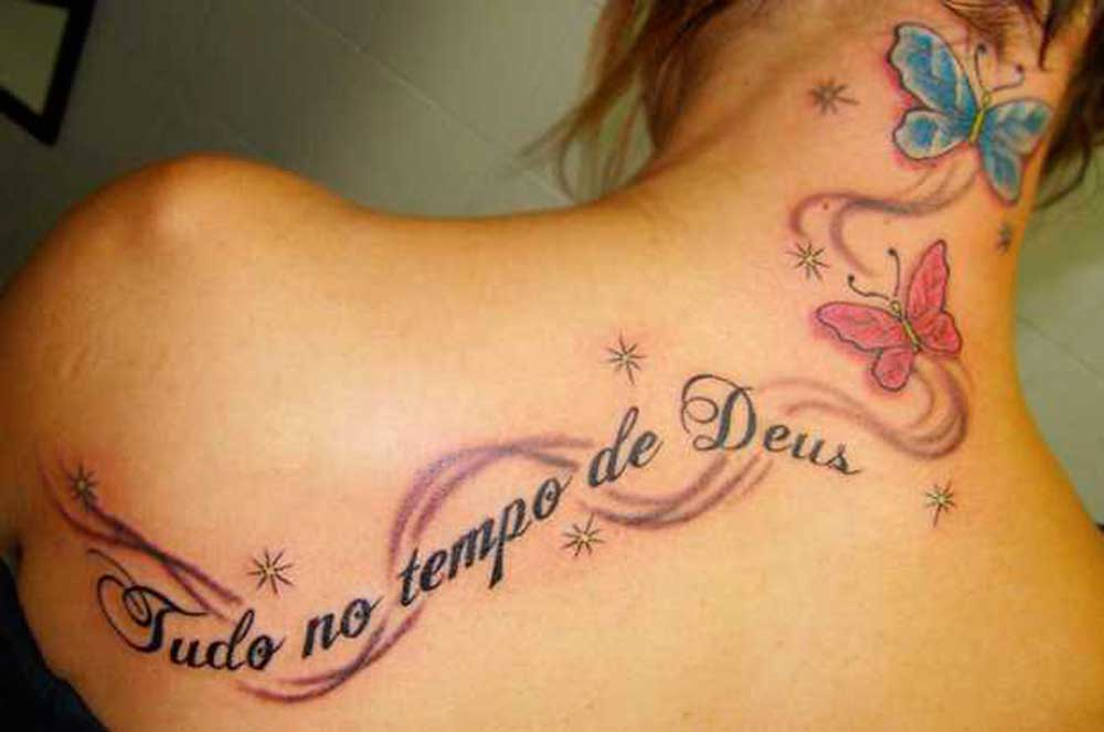 tattoos with writings and back designs
