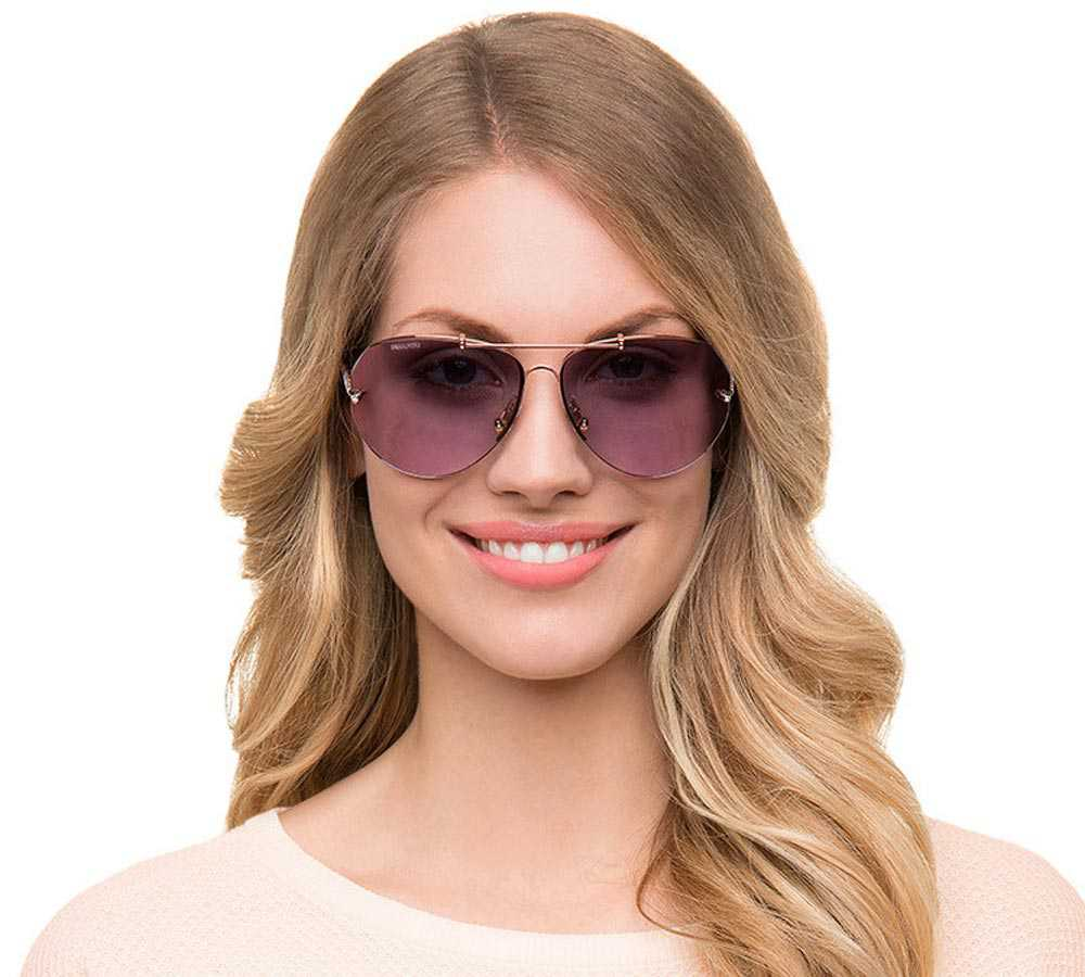 Swarovski Aviator glasses purple