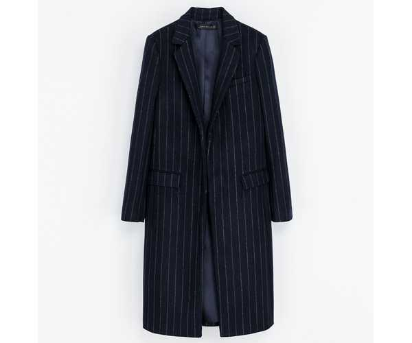 zara pinstriped coat
