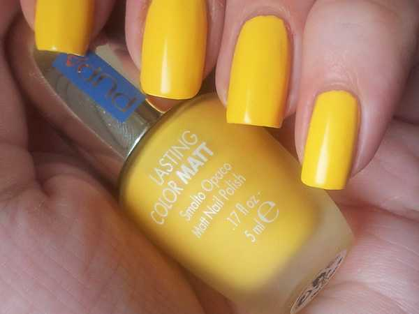 polish pupa matt yellow