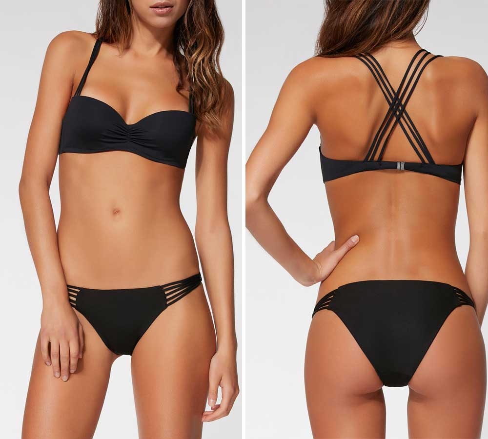 Calzedonia black swimwear 2018