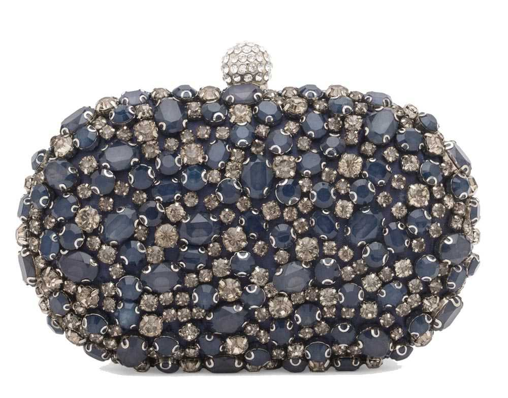 Clutch with stones Luisa Spagnoli