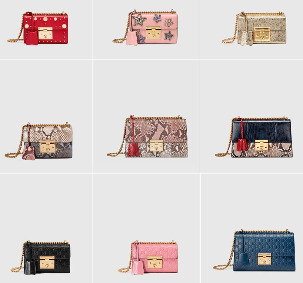 Gucci handbags with chain shoulder strap